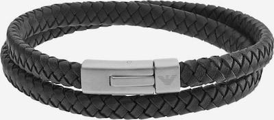 Emporio Armani Armband 'EGS2176040' in schwarz / silber, Produktansicht