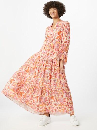 Zwillingsherz Kleid 'Karen' in orange / pfirsich / rosa / weiß, Modelansicht