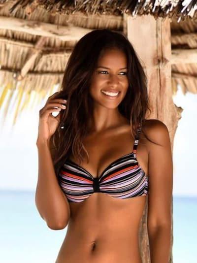 vegyes színek / fekete LASCANA Bikini felső 'Riviera', Modell nézet