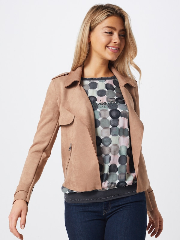 Cartoon Jacke in beige: Frontalansicht