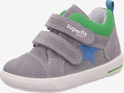 SUPERFIT Lauflernschuhe 'MOPPY' in himmelblau / grau / grün, Produktansicht