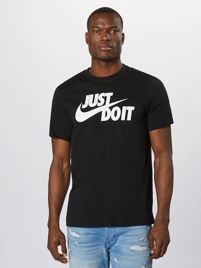 Tricou Nike Sportswear pe negru / alb, Vizualizare model