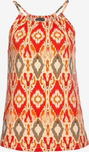 LAURA SCOTT Neckholdertop in beige / orange / rot, Produktansicht