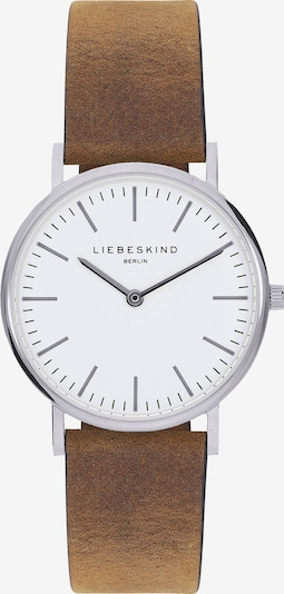 Liebeskind Berlin Montre à affichage analogique en marron / argent / blanc, Vue avec produit
