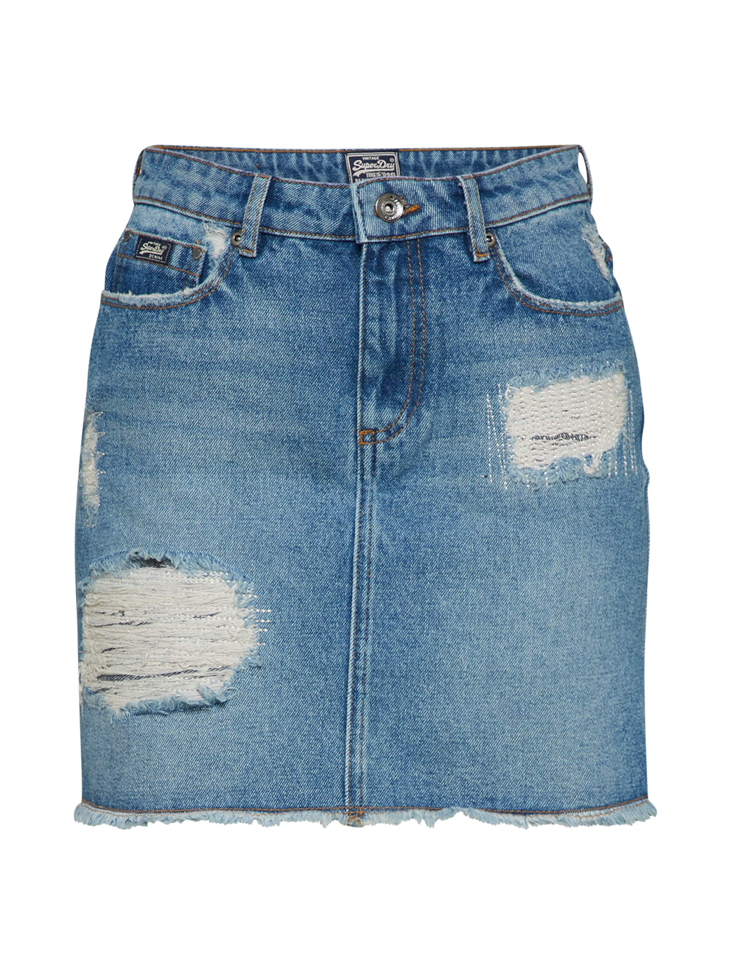 Skirt' Bleu Denim En Jupe Mini 'denim Superdry wntOq64Uw