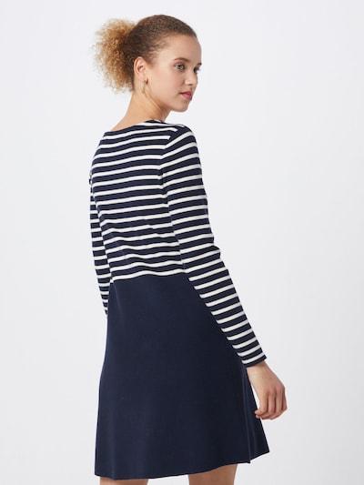 VERO MODA Jurk 'VMSAILOR LS STRIPE DRESS BOO' in de kleur Crème / Nachtblauw, Modelweergave