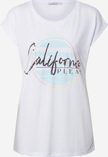 Hailys Shirt 'Cali' in hellblau / gelb / silber / weiß, Produktansicht