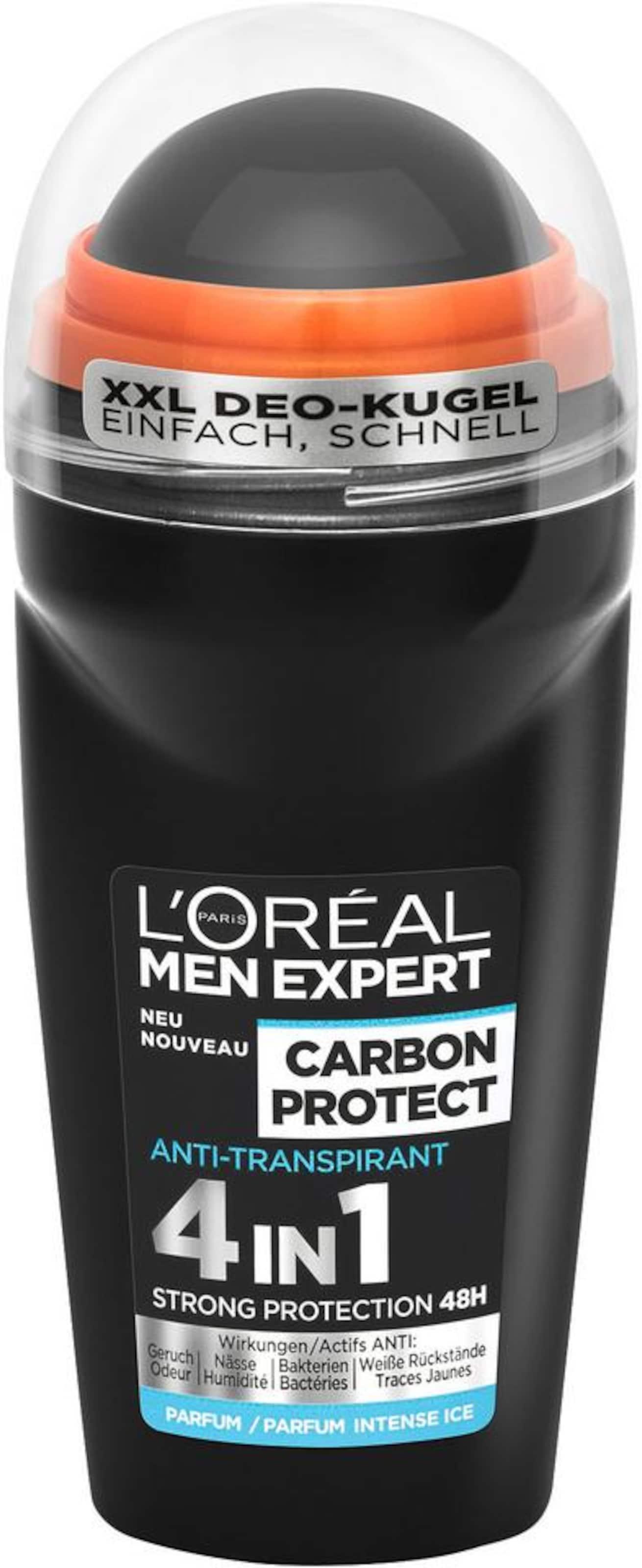 Schwarz L'oréal on Expert Men Paris In Roll Carbon ProtectDeo 543AqcLRj