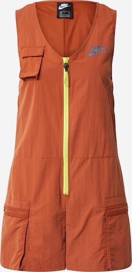 Nike Sportswear Overall 'W NSW ICN CLSH ROMPER' in limone / orange, Produktansicht