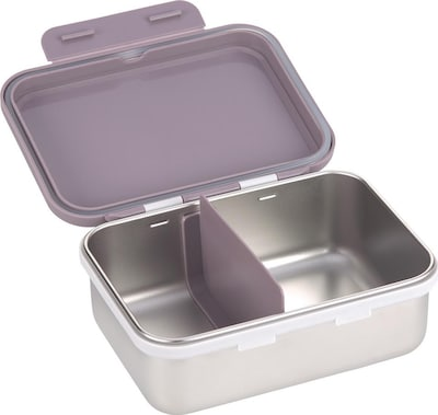 LÄSSIG Lunchbox in flieder / silber, Produktansicht