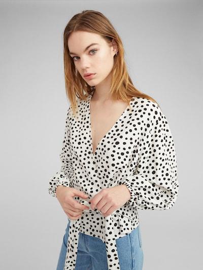 EDITED Bluzka 'Franca' w kolorze czarny / białym, Podgląd na modelu(-ce)