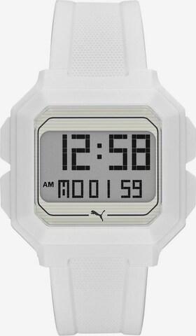 PUMA Digitaluhr 'REMIX' in Weiß