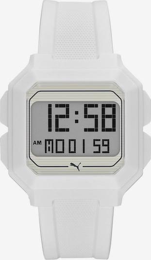 PUMA Digitaluhr 'REMIX' in weiß, Produktansicht