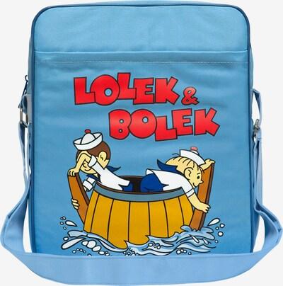 LOGOSHIRT Tasche 'Lolek und Bolek - Auf Hochsee' in hellblau, Produktansicht