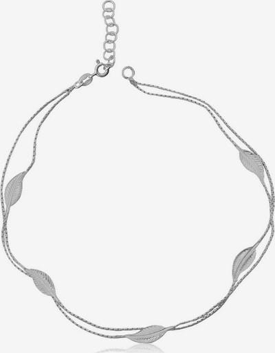 FIRETTI Fußkette 'Blätter' in silber, Produktansicht