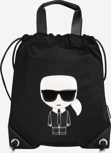 Karl Lagerfeld Gymtas 'Ikonik' in de kleur Zwart / Wit, Productweergave
