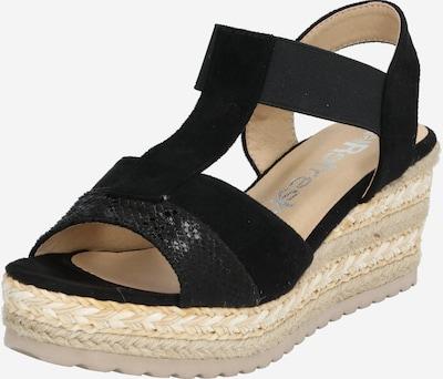 Refresh Sandale in sand / schwarz, Produktansicht