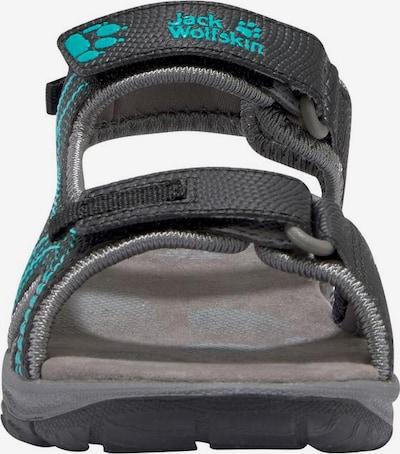 JACK WOLFSKIN Outdoorsandale 'Acora Sandal G' in türkis / schwarz, Produktansicht
