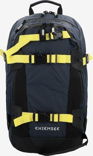 CHIEMSEE Rucksack in nachtblau / neongelb, Produktansicht