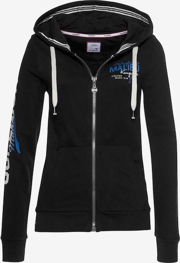 KangaROOS Sweatjacke in blau / schwarz / weiß, Produktansicht