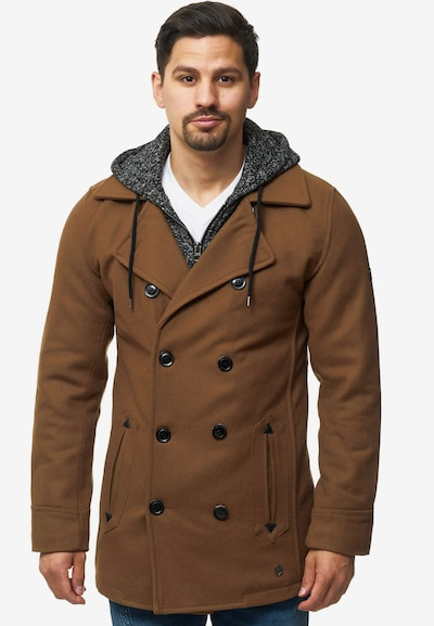 INDICODE JEANS Winterjas 'Cliff Jacke' in de kleur Camel, Modelweergave