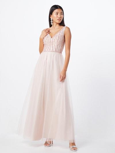 Unique Abendkleid in rosé / silber, Modelansicht