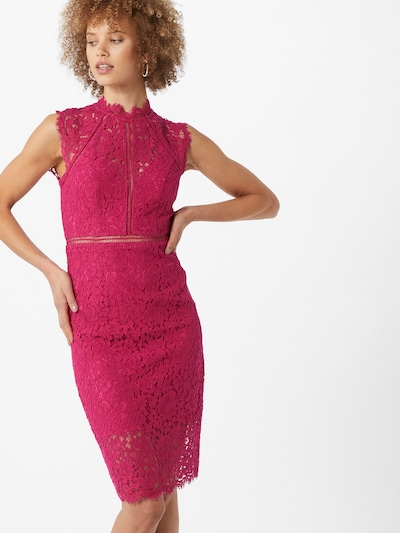 Bardot Kleid in magenta, Modelansicht