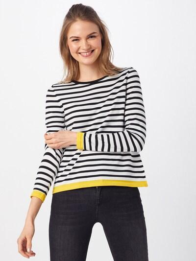 ONLY Pullover 'SUZANA' in gelb / schwarz / weiß, Modelansicht