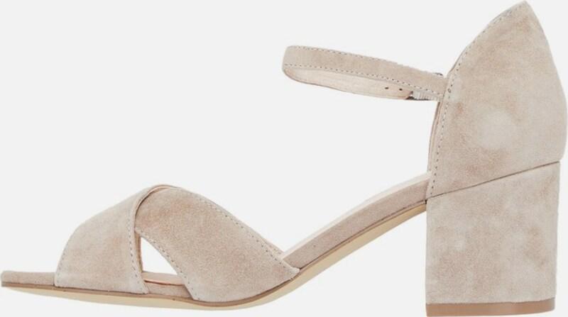 Khaki Sandalen Vorne Geschlossen Damen Leder Elegant Schuhe
