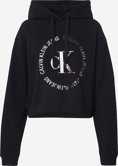 Calvin Klein Jeans Sweatshirt in de kleur Zwart / Zilver, Productweergave