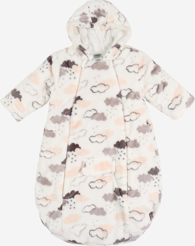 JACKY Wagensack/Schlafsack in grau / rosa / weiß, Produktansicht