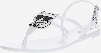 Flip-flops 'JELLY Karl' Karl Lagerfeld pe alb, Vizualizare produs