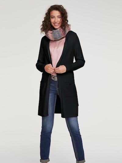 heine Strickjacke 'CASUAL' in schwarz, Modelansicht