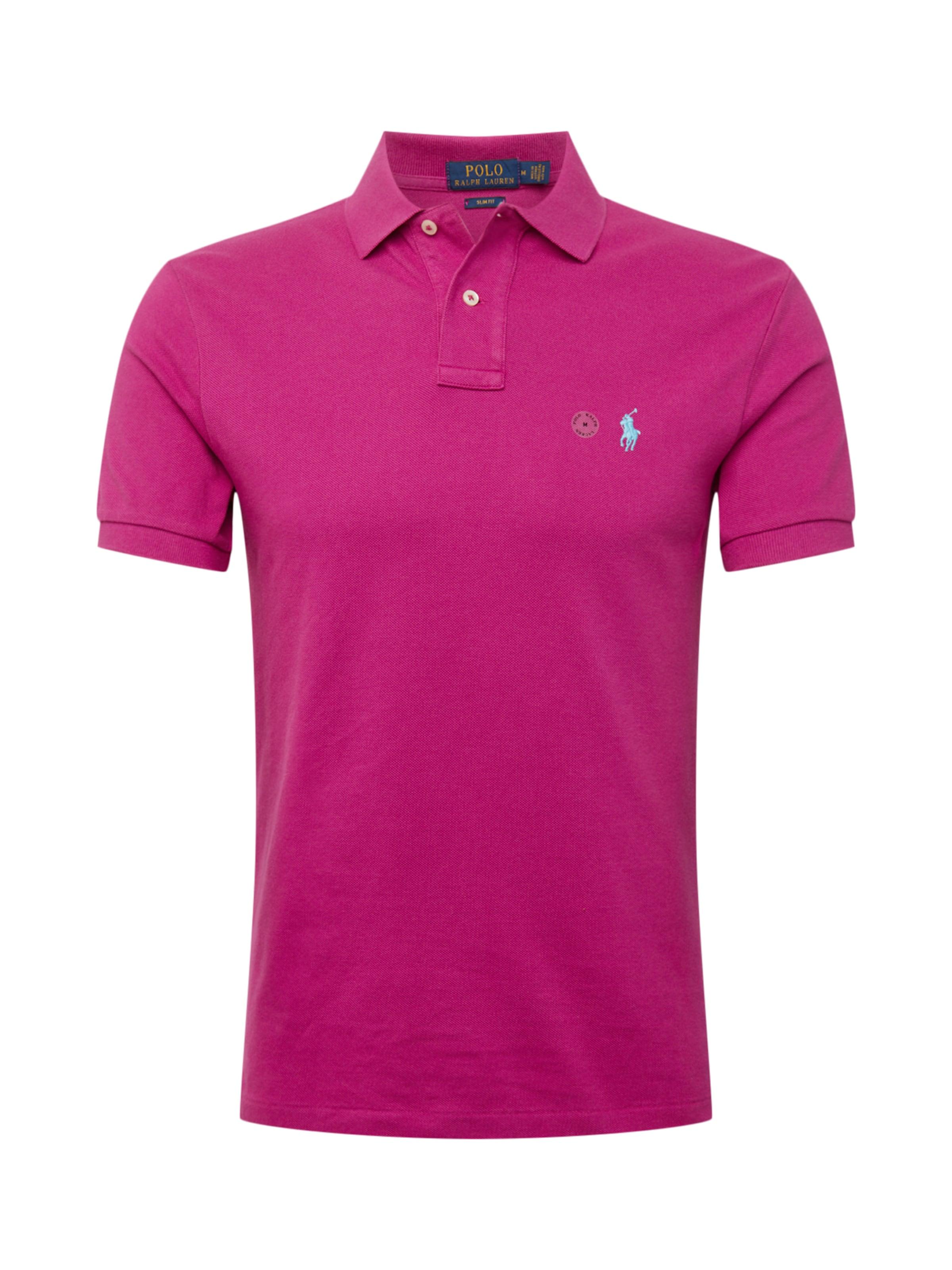 Ralph Lauren knit' In short Poloshirt Polo 'sskcslm1 Sleeve Magenta dthrCsQx