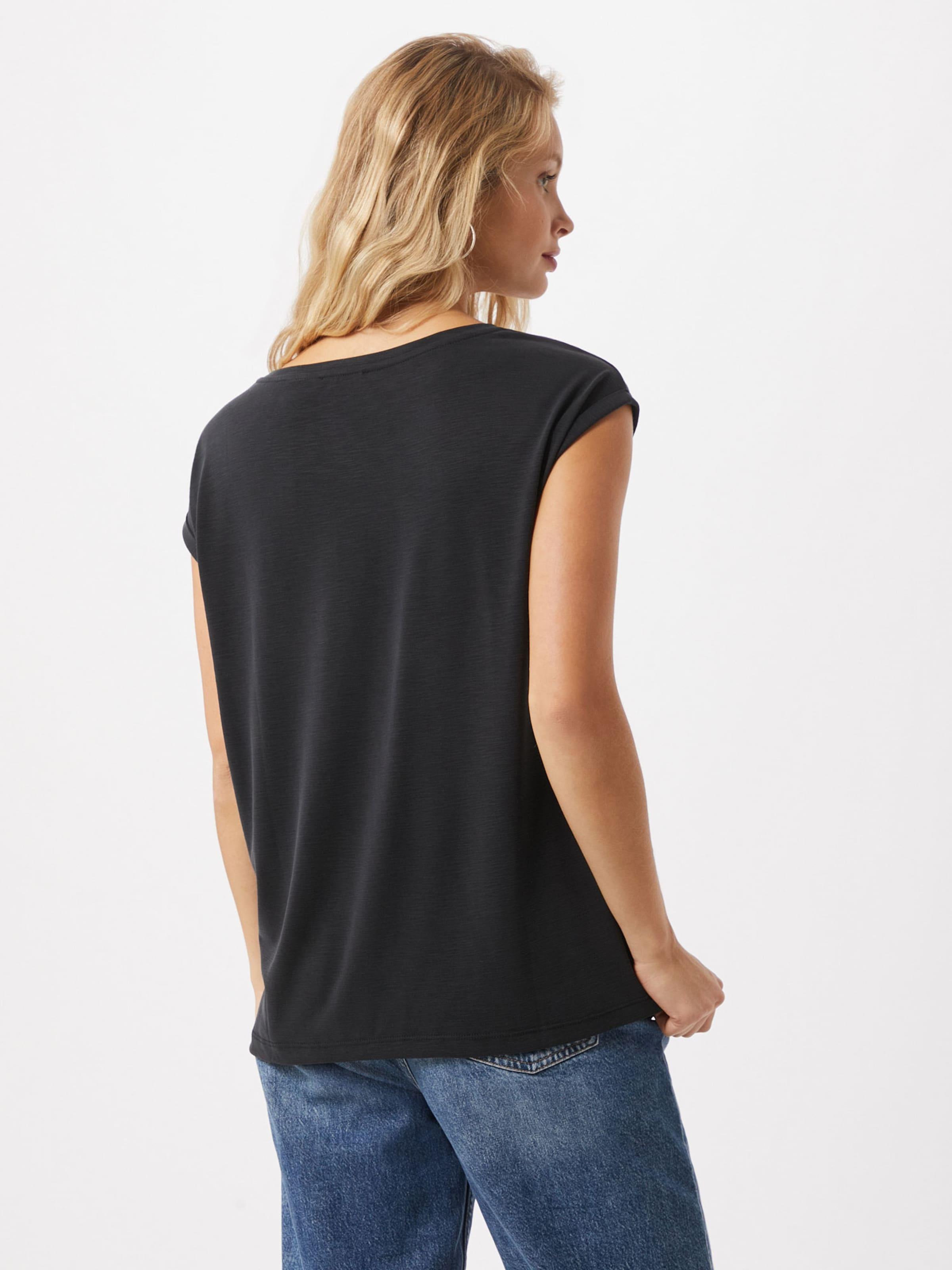 STREET ONE Shirt in schwarz / silber