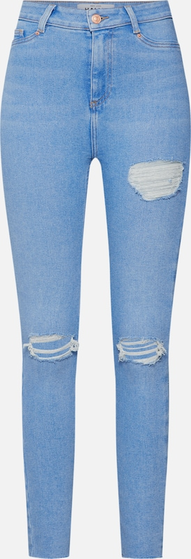Blauw Look Gap Bright In New Disco' Denim Rip Thigh 'rosie Jeggings 67IYmbyfgv