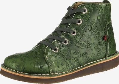 Grünbein Schnürstiefelette 'Tessa' in grün, Produktansicht