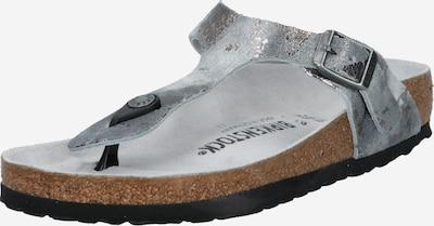 BIRKENSTOCK Séparateur d'orteils 'Gizeh' en gris argenté, Vue avec produit