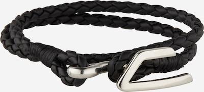 DIESEL Armband 'A-Bruny' in de kleur Zwart / Zilver, Productweergave