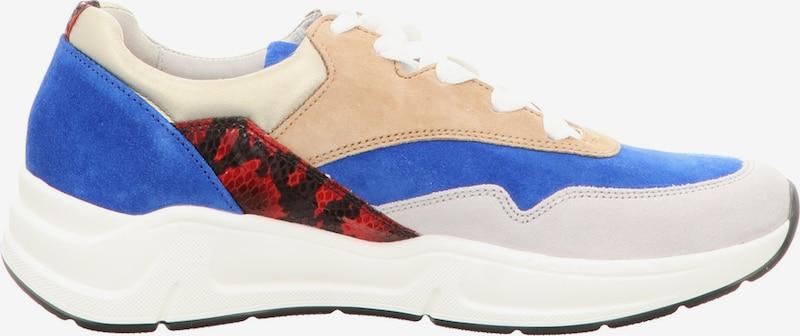 GABOR Sneakers laag in Beige / Blauw / Rood / Wit FEMT5jHD