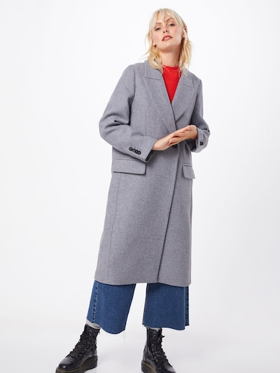 Rudeninis-žieminis paltas 'Bisset' iš DRYKORN , spalva - pilka, Modelio vaizdas