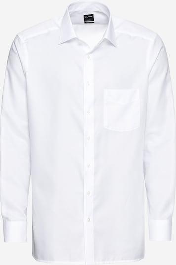 OLYMP Риза 'Luxor Faux Uni' в бяло, Преглед на продукта
