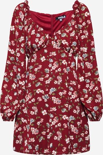 Missguided Kleid in burgunder, Produktansicht