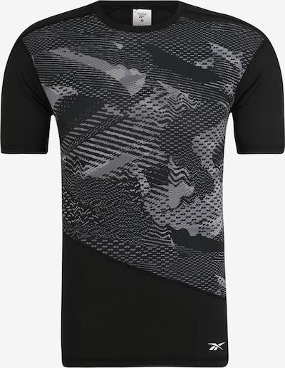 REEBOK Sportshirt 'TS SS Comp Tee - AO' in grau / schwarz, Produktansicht