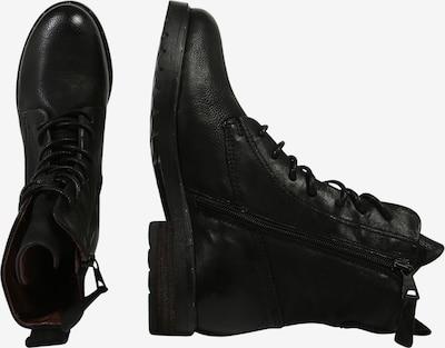 MJUS Schnürstiefelette in schwarz: Seitenansicht
