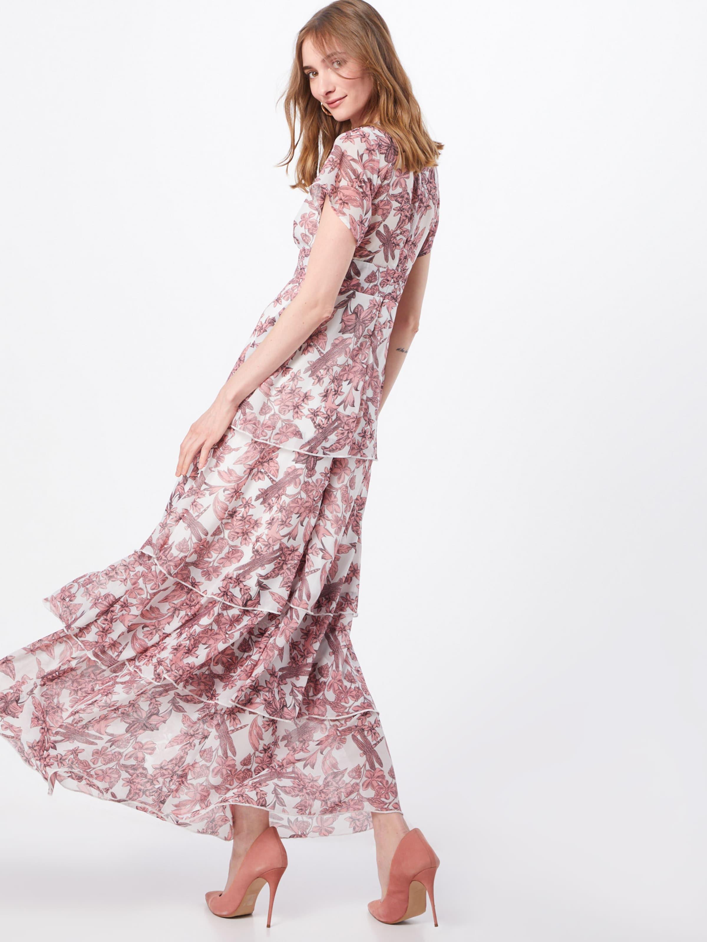 'floral Robe RoséBlanc Layered' Missguided De Soirée Frill En A354RjLq