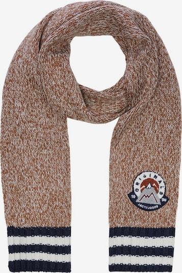 JACK & JONES Sjaal in de kleur Navy / Bruin gemêleerd / Wit, Productweergave