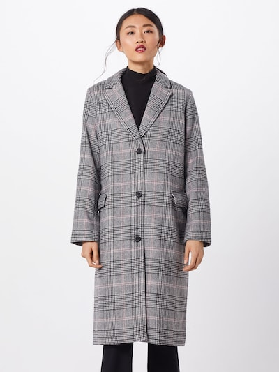 GAP Mantel 'WOOL OVERCOAT - PLAID' in grau / pink, Modelansicht