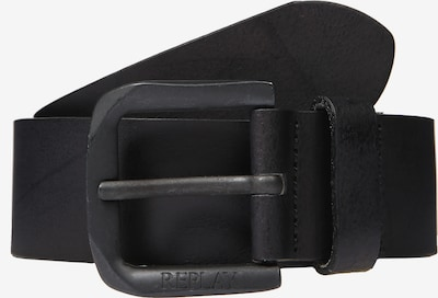 REPLAY Ledergürtel in schwarz, Produktansicht