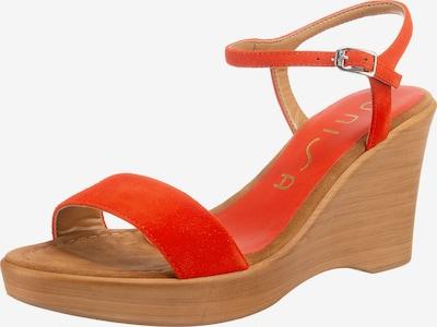 UNISA Keilsandalette 'Rita' in orange, Produktansicht